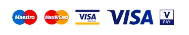 Akceptujemy karty płatnicze Visa, Mastercard